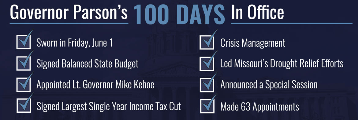 Highlights from Governor Parson's First 100 Days