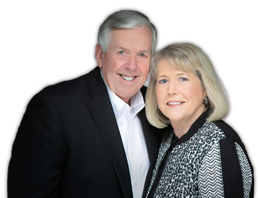 Official Portrait of Missouri Governor Michael L. Parson and First Lady Teresa Parson
