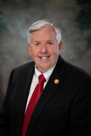 Official Portrait of Missouri Governor Michael L. Parson