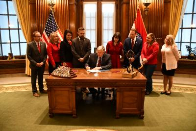 Governor Mike Parson signs HB126
