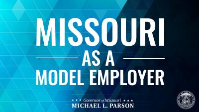Graphic saying Missouri as a Model Employer