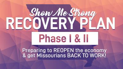 "Graphic reading ""Show Me Strong"" Recovery Plan"